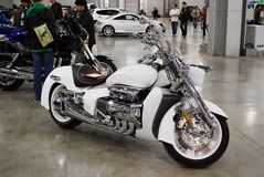 The Honda Valkyrie Rune motorcycle at an exhibition in `Crocus Expo 2012`. Moscow Royalty Free Stock Photos