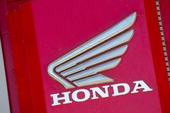 Honda wymienia z loga outside sklepem Zdjęcie Stock