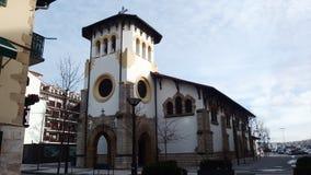 Hondarribia Baskisch Land Weinig Kerk Royalty-vrije Stock Foto's