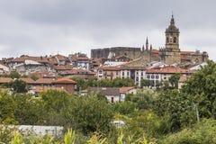 Hondarribia baskiskt land, Spanien arkivfoto
