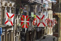 Hondarribia basque town. In Spain stock photography
