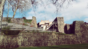 Hondarribia Fuenterrabia City Architecture. Border France Spain View sunny old Defensive wall Royalty Free Stock Photos