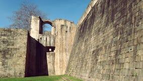 Hondarribia Fuenterrabia de Architectuur van de Stadsverdedigingsmuur Royalty-vrije Stock Afbeeldingen