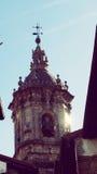 Hondarribia Fuenterrabia de Oude Architectuur van de Kerktoren Stock Afbeelding