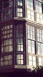 Hondarribia Fuenterrabia Oude Houten Balkonarchitectuur Royalty-vrije Stock Afbeelding
