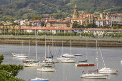 Hondarribia, Spain. Hondarribia is a town situated on the west shore of Bidasoa river`s mouth, in Gipuzkoa, in Basque Country, Spain Stock Photo