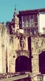 Hondarribia Verdedigingsmuur Oude Stad Europa Stock Fotografie