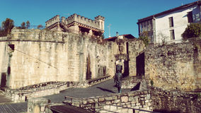 Hondarribia Verdedigingsmuur Oude Stad Europa Royalty-vrije Stock Foto's