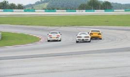 Hondas lapping sepang Stock Image