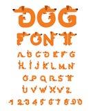 Honddoopvont Tekkelalfabet Het van letters voorzien huisdier ABC-huisdier Stock Foto