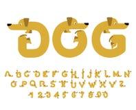Honddoopvont Tekkelalfabet Het van letters voorzien huisdier ABC-huisdier Royalty-vrije Stock Afbeelding