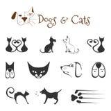 Honden en katten vector illustratie