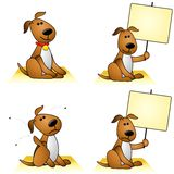 Honden met Vlooien en Tekens Royalty-vrije Stock Foto