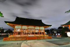 The honden at night. Fushimi Inari Taisha shrine. Kyoto. Japan. Fushimi Inari Taisha is the head shrine of the god Inari, located in Fushimi Ward in Kyoto, Japan Stock Photography