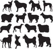 Honden, schets royalty-vrije illustratie