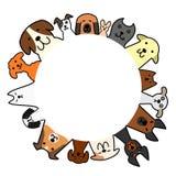 Hondencirkel met exemplaarruimte stock illustratie