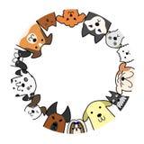 Hondencirkel met exemplaarruimte royalty-vrije illustratie