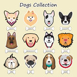 hondeninzameling, vector Stock Fotografie