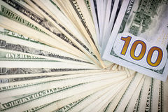 Honderd Amerikaanse dollars Royalty-vrije Stock Foto's