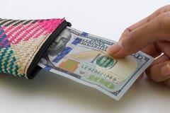 Honderd Amerikaanse Dollars Stock Afbeelding