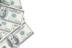 Honderd Amerikaanse dollarsbankbiljetten Royalty-vrije Stock Afbeelding