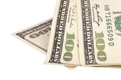 Honderd Amerikaanse dollarsrekeningen Royalty-vrije Stock Foto