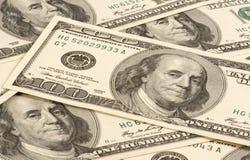 Honderd bankbiljet van de dollar Stock Afbeelding