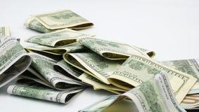 Honderd bankbiljetten van de V.S. cash honderd dollars, dollar 100 stock videobeelden