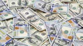 Honderd bankbiljetten van de V.S. cash honderd dollars, dollar 100 stock video