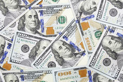 Honderd dollar bankbiljettenachtergrond Royalty-vrije Stock Afbeelding