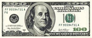 Honderd Dollar Bill Illustration Vector stock illustratie