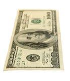 Honderd-dollar geïsoleerdee rekeningen. Royalty-vrije Stock Fotografie