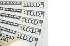 Honderd 100 Dollar Rekeningen Royalty-vrije Stock Afbeeldingen