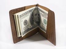 Honderd dollar rekeningen stock fotografie