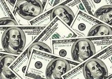 Honderd dollar rekeningenachtergrond royalty-vrije illustratie