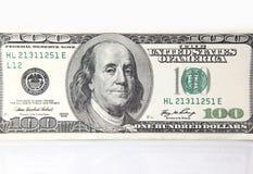 Honderd dollarbankbiljet Stock Foto