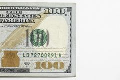 Honderd 100 Dollarrekening Stock Fotografie