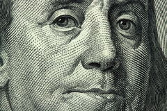 Honderd dollarrekening Stock Foto's