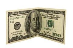 Honderd Dollars Royalty-vrije Stock Afbeeldingen