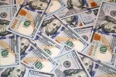 Honderd dollars Amerikaanse bankbiljetten Royalty-vrije Stock Foto's