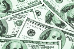 Honderd dollars Macro Royalty-vrije Stock Afbeelding
