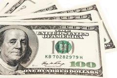 Honderd dollars sluiten omhoog met een portret, selectieve nadruk Stock Foto
