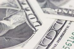Honderd dollarsachtergrond Stock Afbeelding