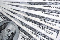 Honderd dollarsachtergrond Stock Foto
