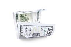 Honderd dollarsbankbiljet Royalty-vrije Stock Foto