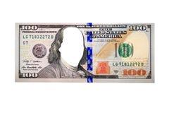 Honderd dollarsbankbiljet zonder gezicht Stock Afbeeldingen