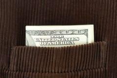 Honderd dollarsbankbiljetten Royalty-vrije Stock Fotografie