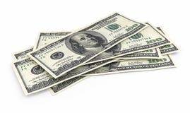 Honderd dollarsbankbiljetten royalty-vrije illustratie