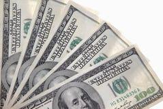 Honderd dollarsbankbiljetten Royalty-vrije Stock Afbeeldingen