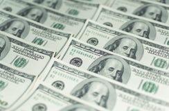 Honderd Dollarsgeld Stock Foto